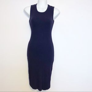 WIFRED FREE Dark Blue Sleeveless Ribbed Dress